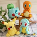 4 Inch Pokemon Идти Пикачу Charmander Squirtle Мягкие Чучела Плюшевые Игрушки Куклы Для Детей Подарки Сумки Подвеска Брелок DIY