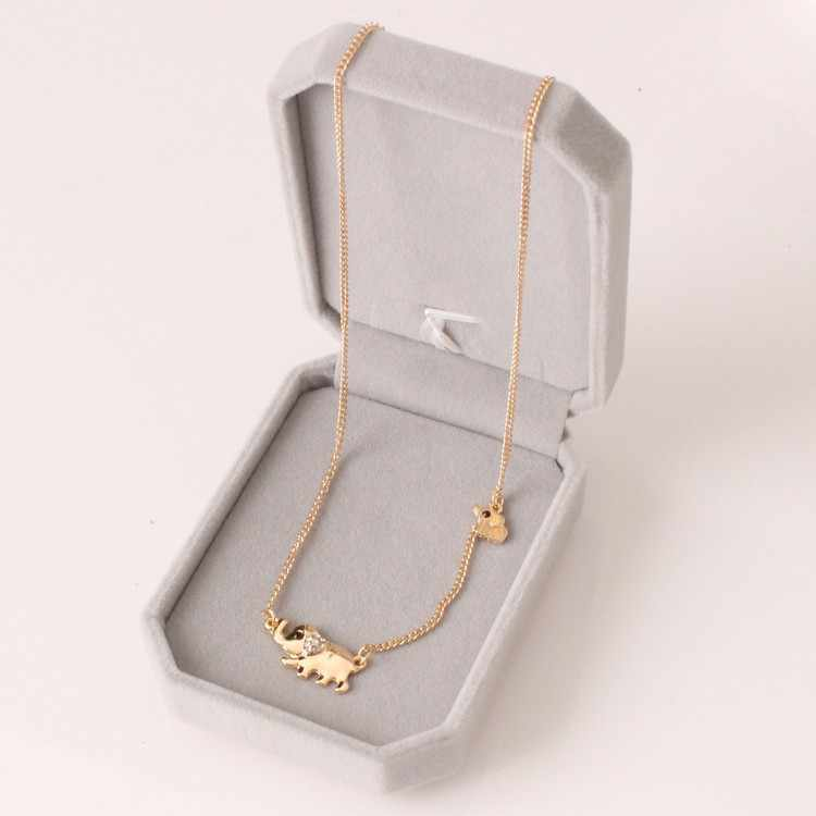 Free Shipping New Fashion Necklace Crystal Element Family Fashion Size 2 Elephant Lady Necklace Wholesale Sale Layered Necklaces