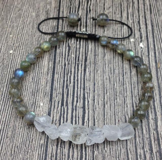 YA3015 Rough Quartz Beads...