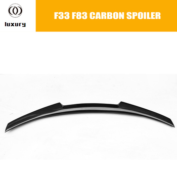 F33 F83 M4 Style Carbon Fiber Rear Trunk Spoiler for BMW F83 M4 Convertible 2014 2015 2016 Auto Racing Car Styling Rear Lip Wing image