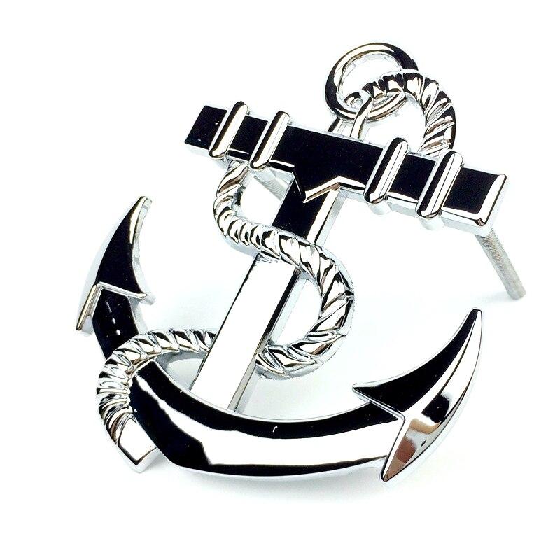 Logam Perahu Jangkar Bentuk Depan Grill Emblema Tunning Lambang Lencana