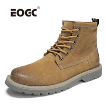 Genuine Leather Shoes Men Quality Plush Fur Warm Snow Boots Retro Vintage Style Casual Footwear Autumn And Winter Boots super warm men boots two style high quality autumn and winter shoes handmade retro men shoes genuine leather snow boots shoes