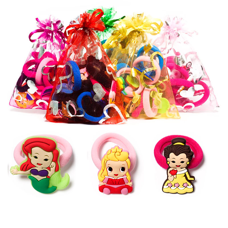 1-8pcs lovely Baby Princess Hot Cartoon Hair Bands Hairpins Barrettes Kids Headwear Mult ...