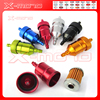 6mm Universal Anodized alloy Oil Filters Motorcycle Dirt Bike ATV Quad Inline Oil Gas Fuel Filter