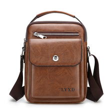 купить Men PU Leather  Fashion Shoulder Bag High Quality Travel Crossbody Bag Casual Black Business Mens Hand bag men Leather Messenger по цене 738.59 рублей