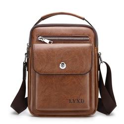 Men PU Leather  Fashion Shoulder Bag High Quality Travel Crossbody Bag Casual Black Business Mens Hand bag men Leather Messenger