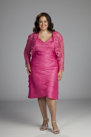 Black Mother Of The Bride Dresses Plus Size With Lace Jacket Organza