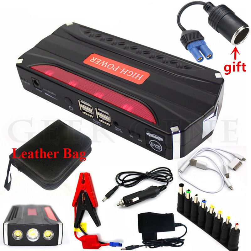 High Power 12000mAh Car Jump Starter 600A Portable Starting Device Booster Power Bank 12V Car Charger For Car Battery Buster CE high power starting device 600a car jump starter power bank 12v portable starter charger for car battery booster buster diesel