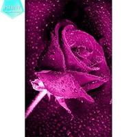 DIY Diamond Embroidery Patterns Flowers Rose Pictures Diamond Mosaic 5D Full Square Rhinestones Diamond Painting Cross
