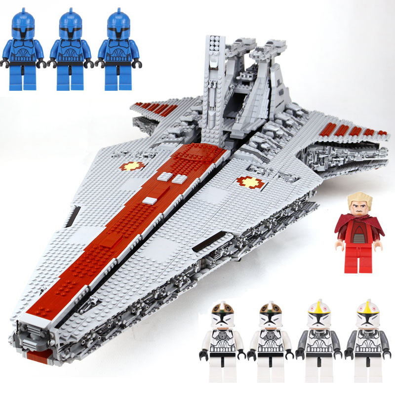 Compatible legoing Lepin 05077 Star 6 Wars The UCS Rupblic Star Destroyer Cruiser ST04 Set Building lepin Blocks Bricks Toys lepin 05077 star series war genuine the ucs rupblic star set destroyer cruiser st04 set building blocks bricks for boy gift toy