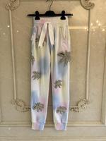 Новинка 2019 года длинные модные высокое качество для женщин Повседневное элегантный Коко цветок бисер джинсы для леди ж