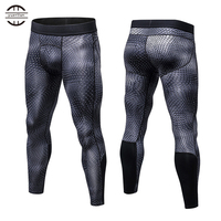 YEL New GYM Leggings Compression Bodybuilding Pantalones Hombre Fitness Trousers Sweat Pants For Men Sport Tights