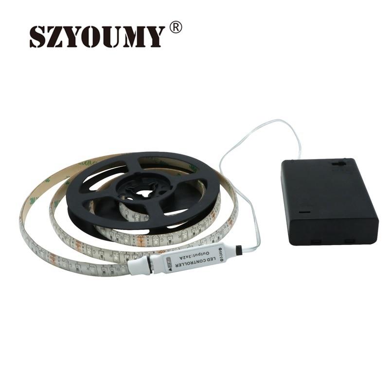 SZYOUMY RGB Led Light Strip аккумуляторы Powered + RGB - LED Жарықтандыру - фото 4