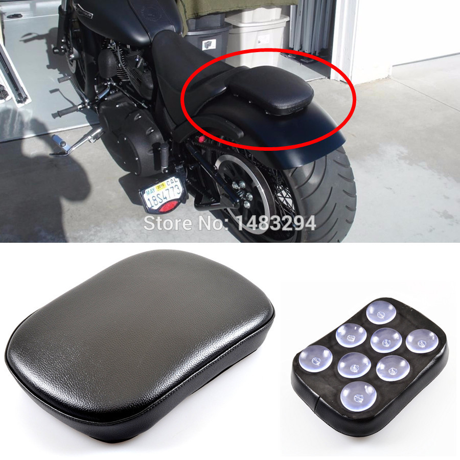 Suction Seat Pillion Pad Rear Passenger Seat For Motorcycles Universal Fit 8 Suction Cups