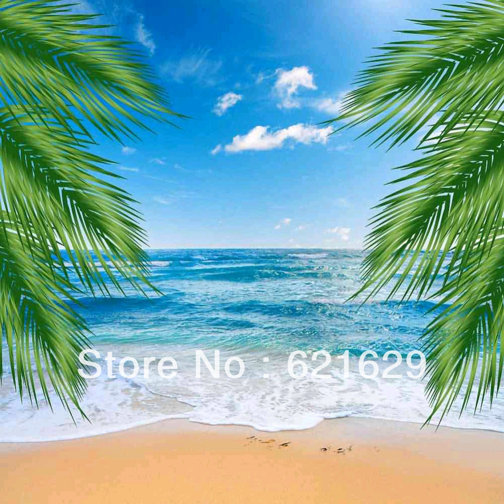Beautiful Beach 8 x8 CP Computer painted Scenic Photography Background font b Photo b font Studio
