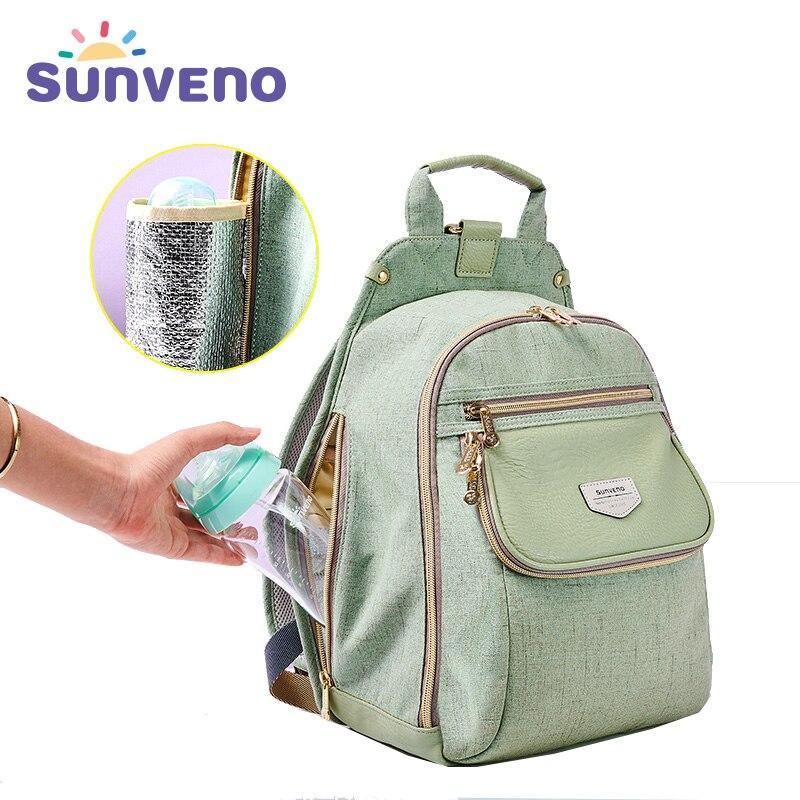 Новая сумка для подгузников SUNVENO модная детская сумка рюкзак детские вещи Органайзер мама Материнство подгузник Пеленальный влажный мешок ...