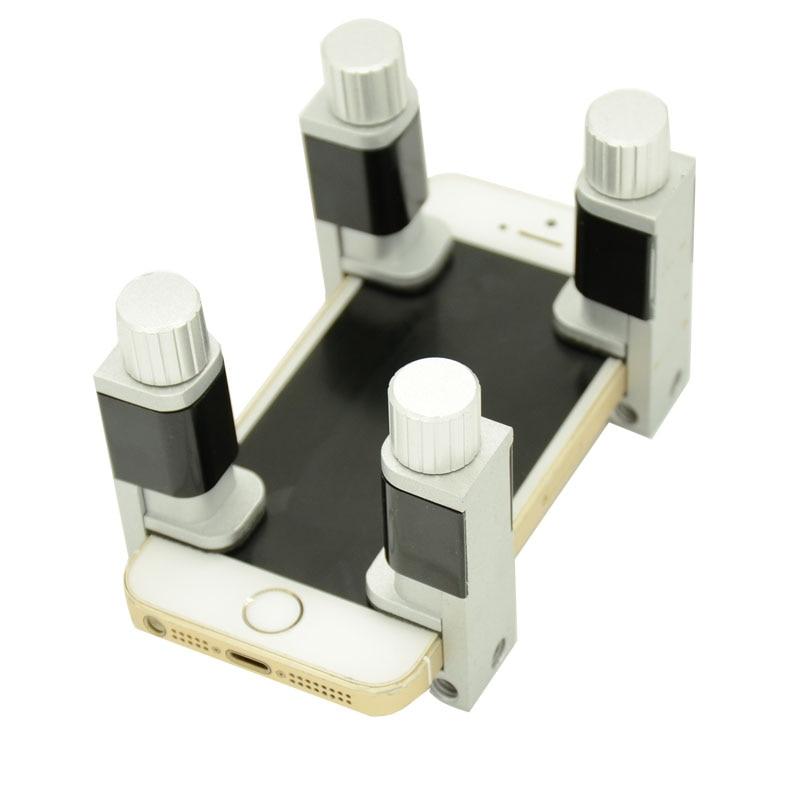 Univerzální nastavitelný plastový kovový držák LCD digitizéru Screen Upevňovací svorka Opravný nástroj pro vyrovnávání svorek pro iPhone Tablet PC