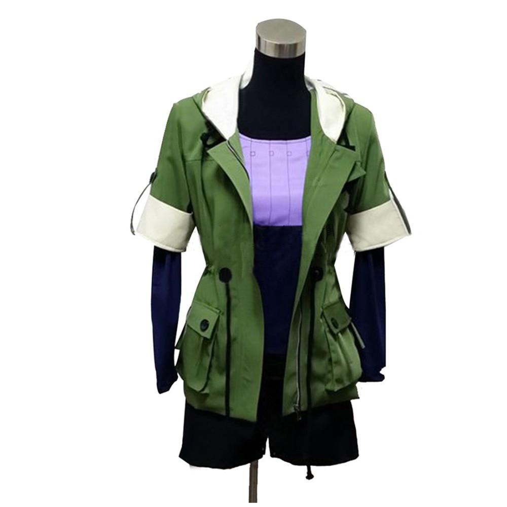 2017 Tokyo Ghoul Touka Kirishima Cosplay զգեստները Կանաչ Hoodie Ամբողջական հավաքածու