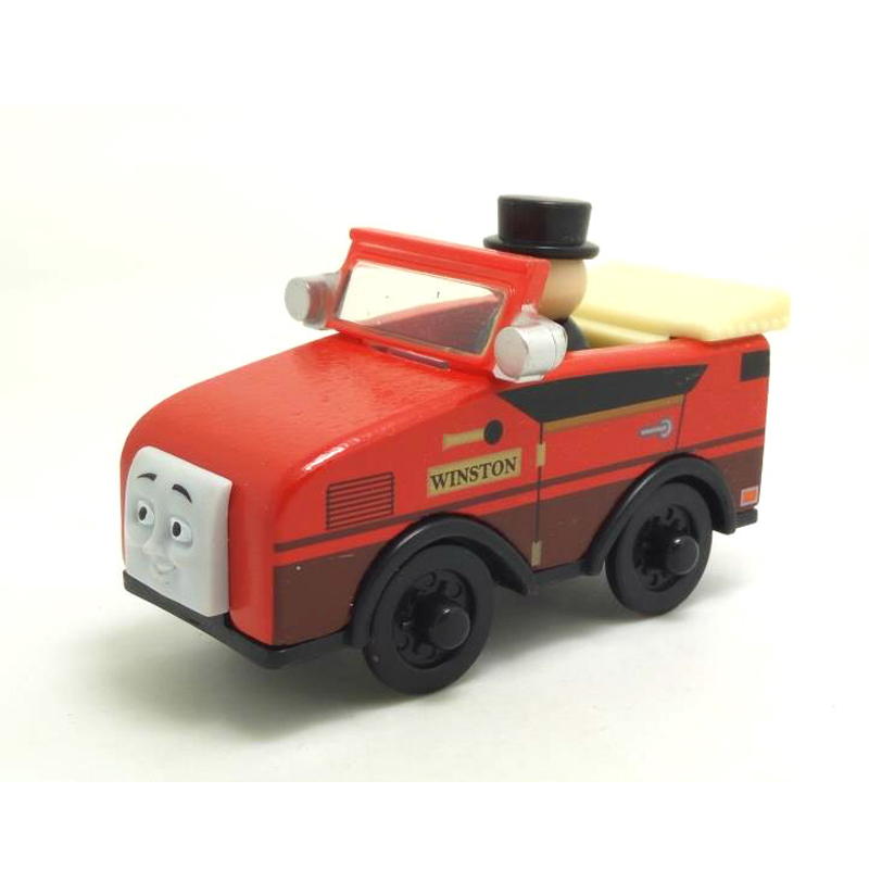 W45 free shipping RARE WINSTON Original Thomas And Friends Wooden Magnetic Railway Model Train Engine Boy Toy Christmas Gift