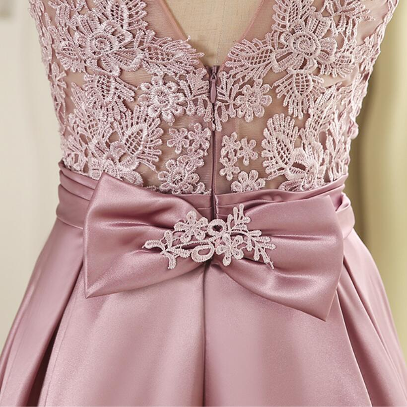 NICEOOXIAO 2018 Elegant Evening Dress Lace Bow-knot Long Evening Dress Crystal Sashes Sexy Backless Party Gown Robe De Soiree 69