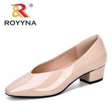 Женские туфли лодочки royyna на низком каблуке для офиса свадьбы