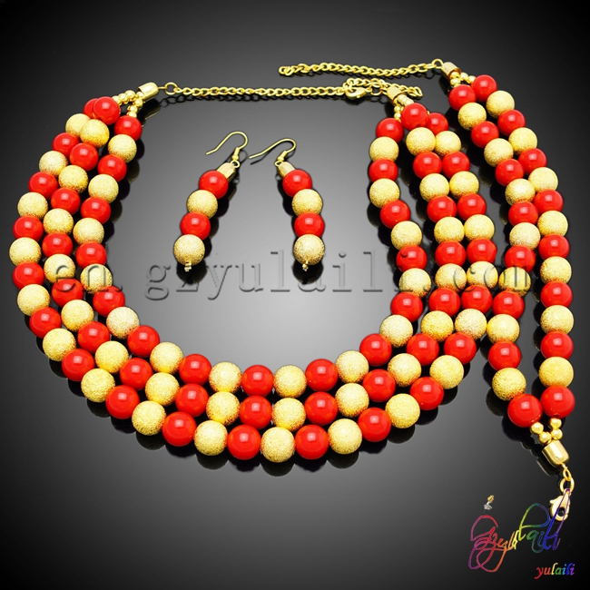 Free Shipping Yulaili Artificial Factory Round Design Engagement Costume Two Beaded Jewelry SetFree Shipping Yulaili Artificial Factory Round Design Engagement Costume Two Beaded Jewelry Set