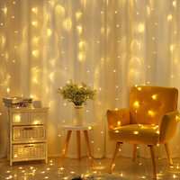 6 x 3M 600LEDs Wedding LED Curtain Light Garland Outdoor Holiday Christmas Party Decorative String Fairy Lights Waterproof