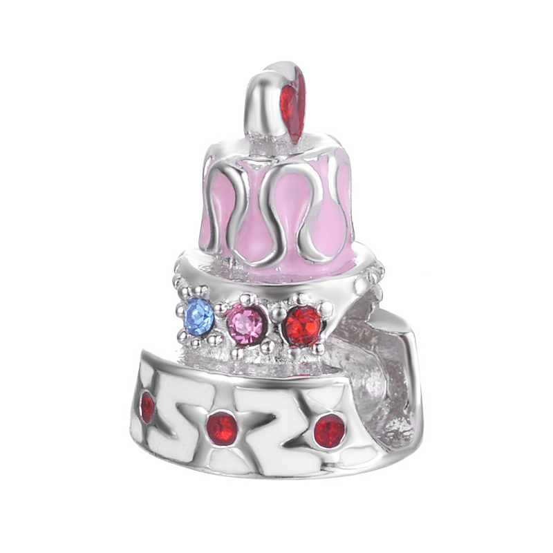 Original New Design Birthday Gift Enamel And Pave Zircon Jewelry For Bracelet Or Necklace S925 Sterling Silver Charm