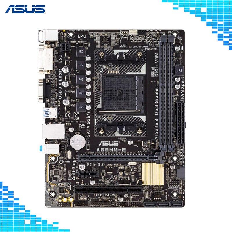 Asus A68HM E Desktop Motherboard AMD A68H Chipset Socket FM2/FM2+ Micro ATX