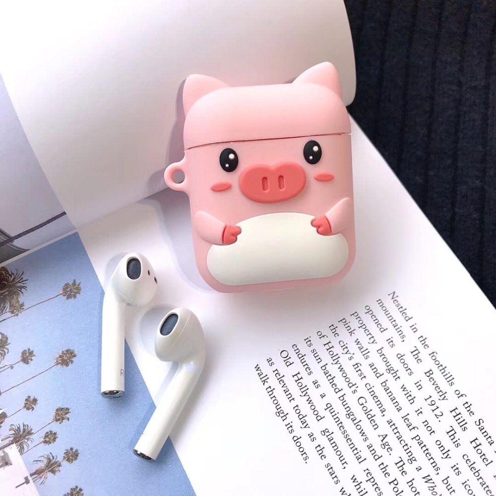 Image 4 - Cartoon Wireless Bluetooth Earphone Case For Apple AirPods Silicone Charging Headphones Cases For Airpods Protective Cover-in Earphone Accessories from Consumer Electronics