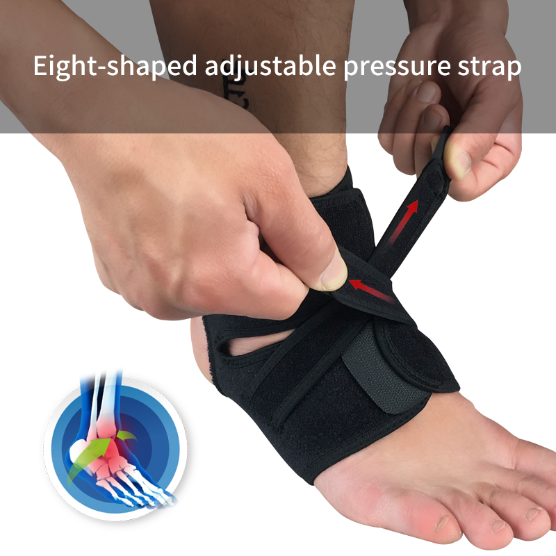 Sports Accessories Sports Safety 1 Piece Left Right Feet Ankle Support Strap Fitness Ankle Brace Gym Ankle Protection Running Sport Support Guard Foot Bandage