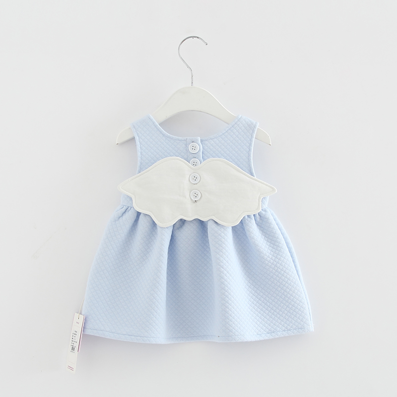 2017 Baby Angel Feathers Party Dress Princess Kids Children Infant Baby Dresses Baby Girls Dresses Newborn