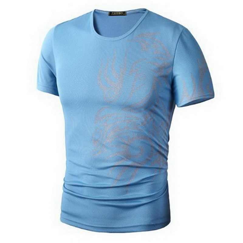 ホットな新 2015 ファッションブランドの Tシャツ。ノベルティドラゴンプリントタトゥー男性 O ネック Tシャツ男性のブランド。 TX70-T シャツ--E