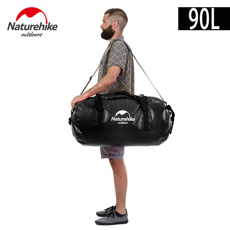 90L Big Capacity Outdoor Waterproof Swimming Bag Multifunctional Diving Floating Dry Bag Kayaking Storage Drifting Rafting Bags