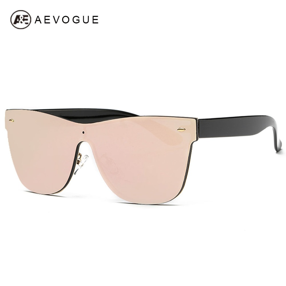 AEVOGUE Women's Sunglasses Conjoined Spectacle Lens Brand Design Rimless Summer Style Sun Glasses Oculos De Sol UV400 AE0323
