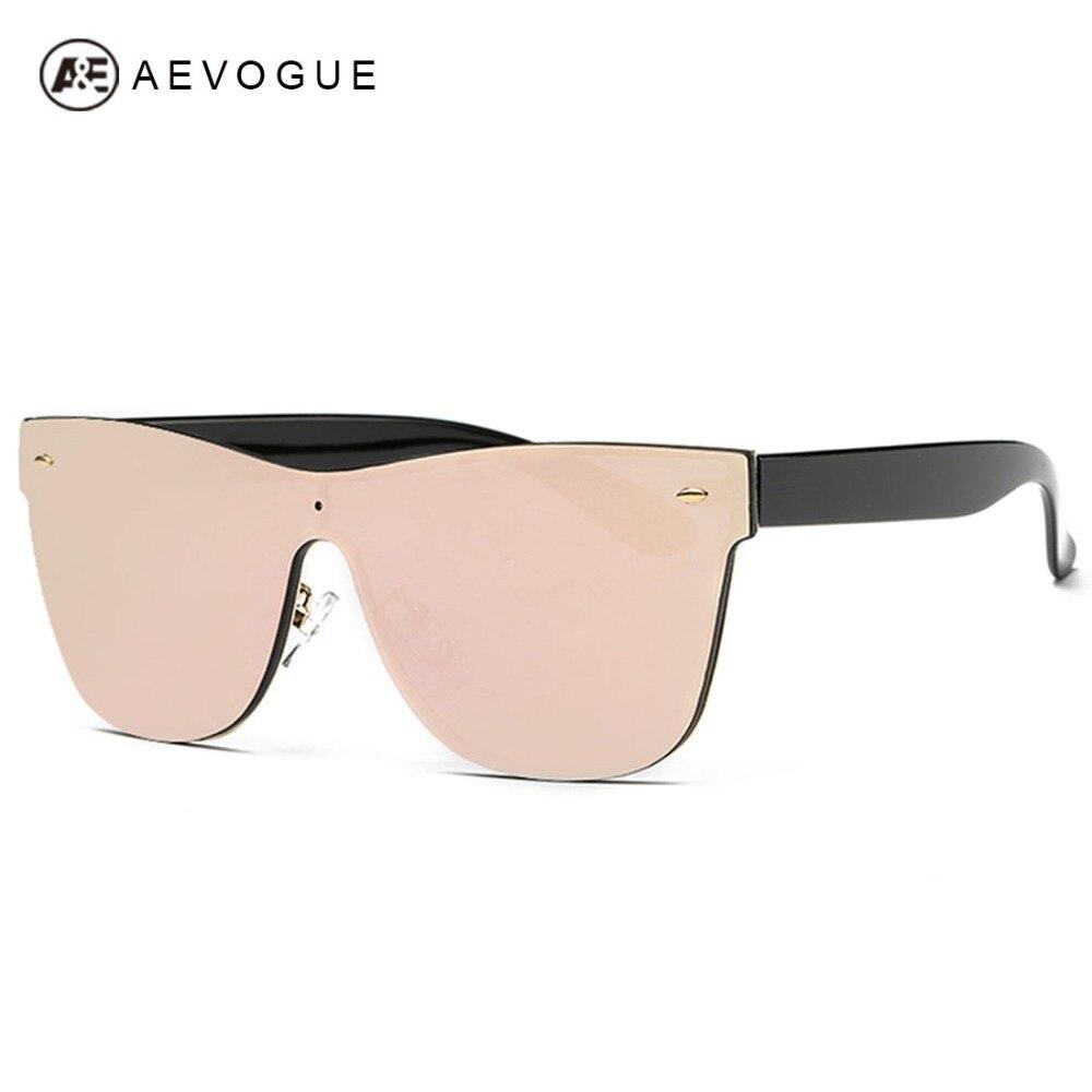 AEVOGUE Women's Sunglasses Conjoined Spectacle Lens Brand Design Rimless Summer Style Sun Glasses Oculos De Sol UV400 AE0323