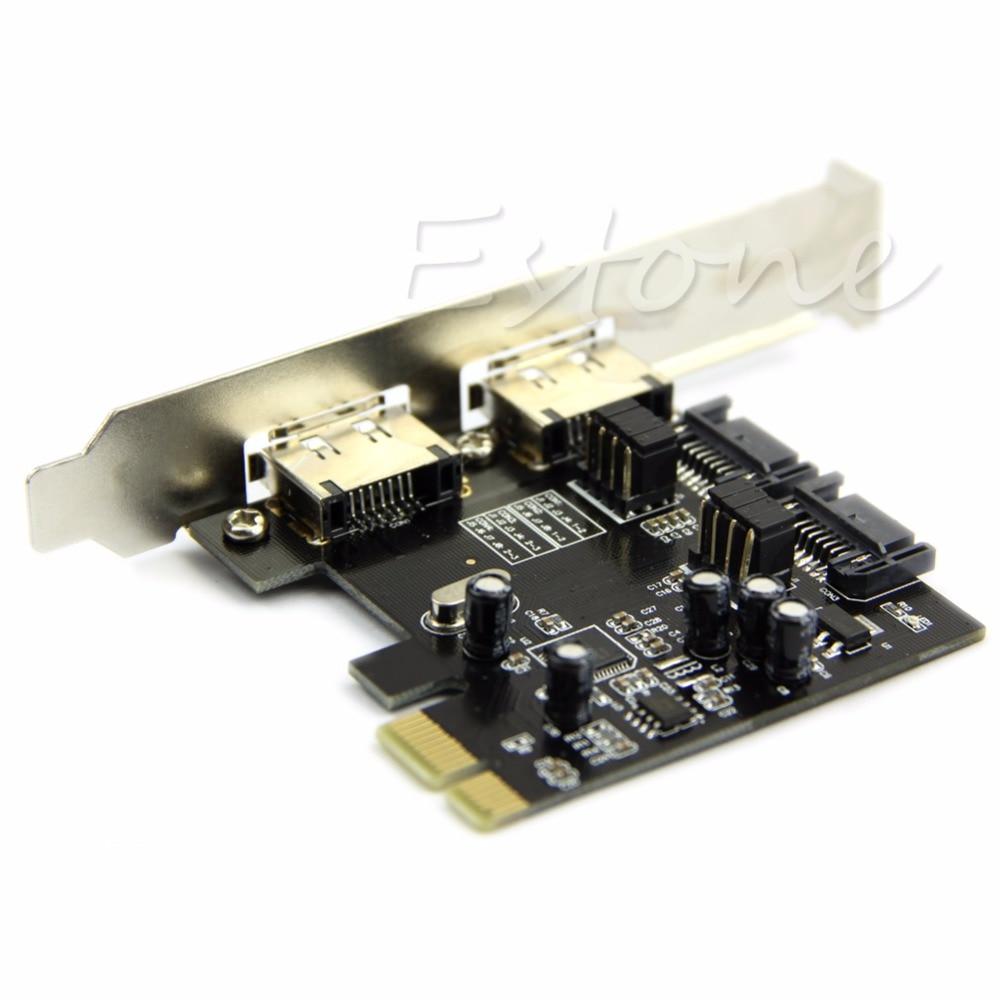 2 Ports ESATA Expansion Card 6Gbps PCI-E Express To 2 Ports SATA 3 SATA III