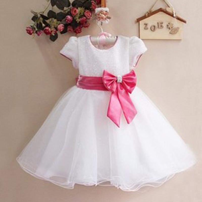 Ball Gown Girl Dress 2017 New Style Sequins Childrens Princess Dresses Summer Short Sleeve Gauze Kids Clothes for Girls with Bow 4pcs new for ball uff bes m18mg noc80b s04g