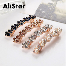 hot deal buy 2016 new fashion wedding hair jewelry accessories rhinestone and pearl barrettes sweet flower hairgrips pins ornaments #jh061
