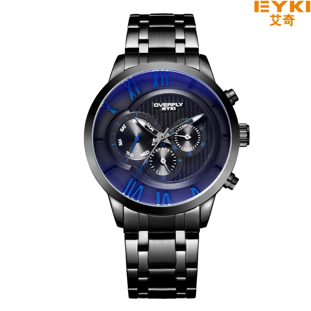 EYKI Top Brand Men Watches Casual Sport Wristwatch Military Stainless Steel Wristwatch For Men .Male Reloj Clock Luminous Watch eyki top brand men watches casual quartz wrist watches business stainless steel wristwatch for men and women male reloj clock