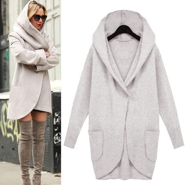Long Woolen Coats For Women Autumn Winter Spring Fashion Women's Wool Coats  pink Ladies Jackets Korean Outwear 19