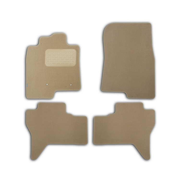 Mats in salon Klever Premium For MITSUBISHI Pajero IV 2006-> внед... 4 PCs (textile, beige) цены