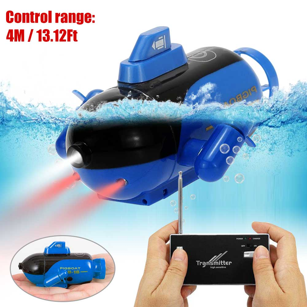 Mini RC Submarine Remote Control Under Boat Submarine Bath Toys Bathtub Pools Lakes Toys Model Electric Kids Toy-in RC Submarine from Toys & Hobbies