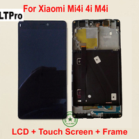 Black TOP Quality Full LCD Display Touch Screen Digitizer Assembly With Frame For Xiaomi Mi4i Mi
