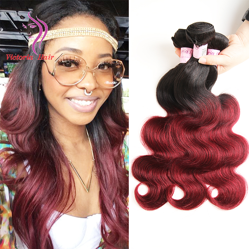 Dark Red Ombre Brazilian Weave Pictures To Pin On