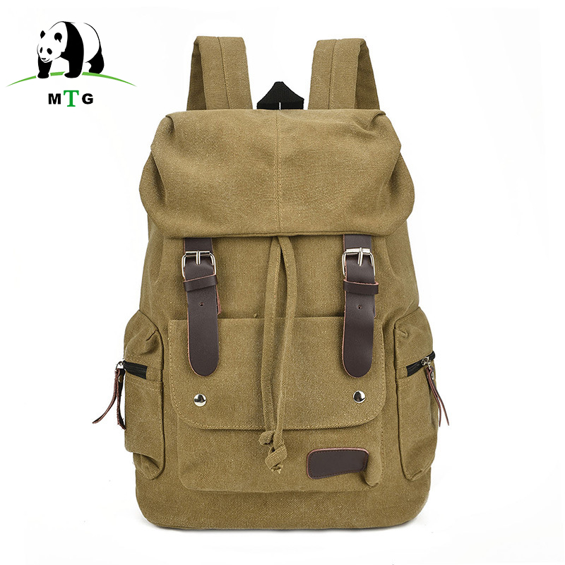 MTG Brand New Fashion Men Women Backpack Vintage Canvas Backpack School Bag Male Travel Bags Large Capacity Travel Backpack Bag men s casual bags vintage canvas school backpack male designer military shoulder travel bag large capacity laptop backpack h002