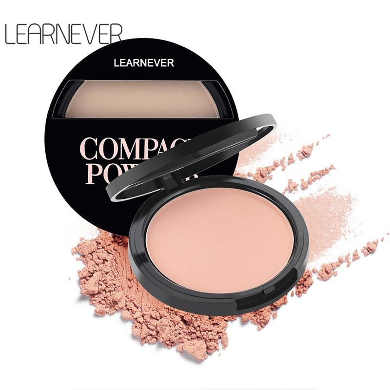 Natural Face Powder Pressed Powder Mineral Foundations Oil-control Brighten Concealer Palette Smooth Make Up Setting Powder image
