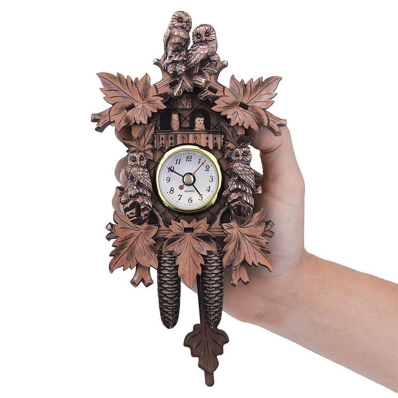118*231*50Mm Vintage Cuckoo Cock Birds Owl Wall Clock For Home Decorations Hanging Retro Alarm Craft Art Garden Wall Clocks New