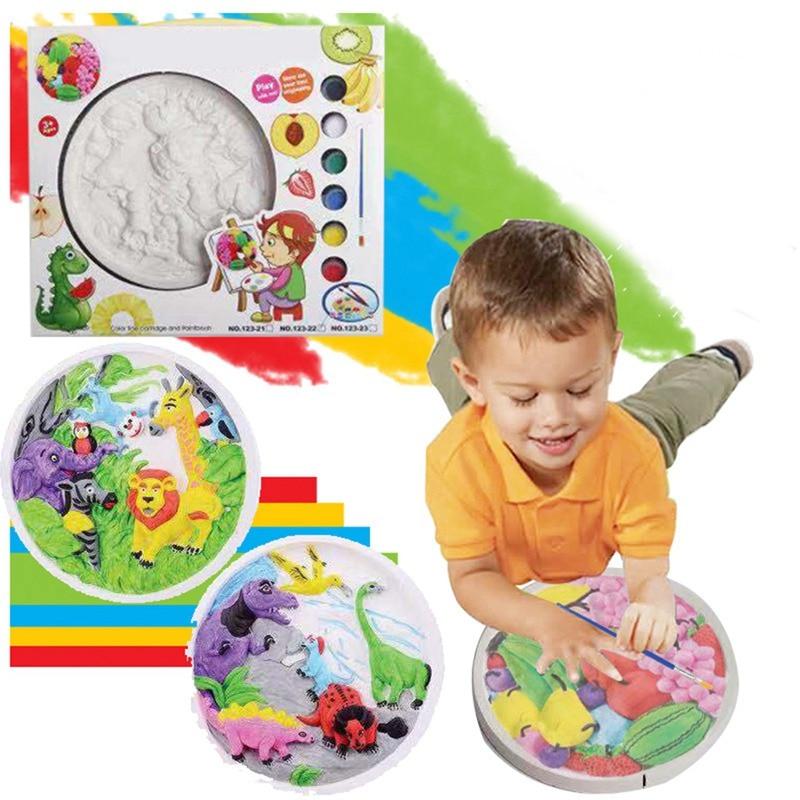 """""""kinder Der Färbung Hand-gemalt Spielzeug Puzzle Bildung Gips Gesundheit Umweltschutz Kreative Malerei Attraktive Mode"""