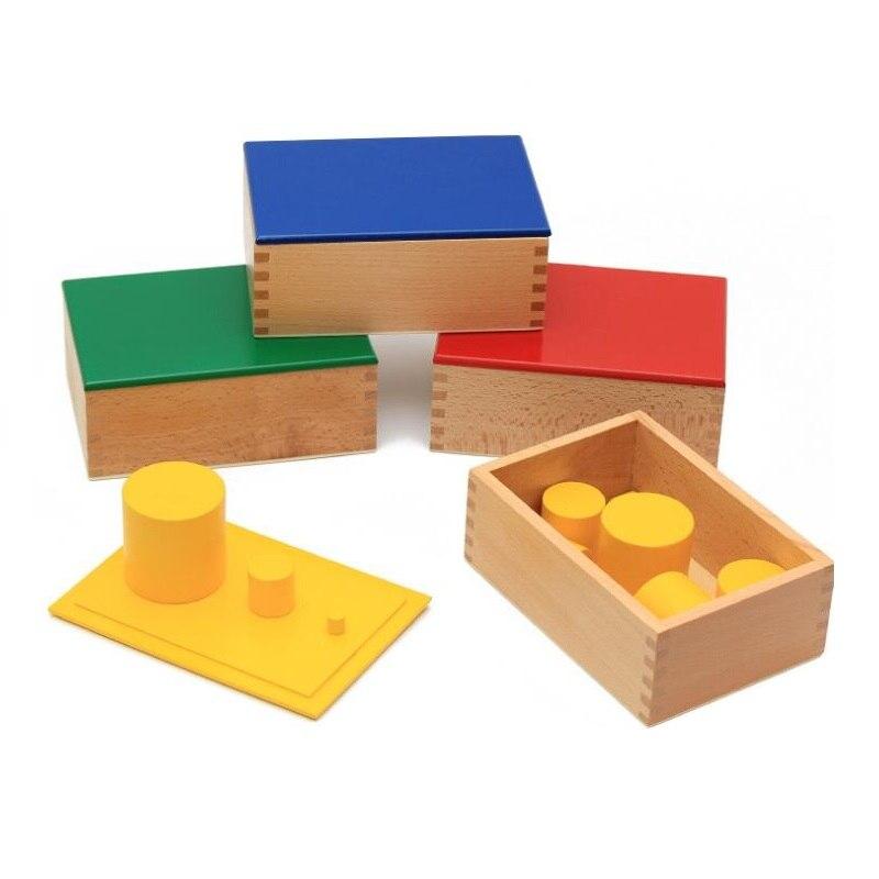 Montessori enseignement sida couleur cylindre Montessori petite enfance pour les enfants sensorielle enseignement Éducatifs Jouets pour Bébé cadeau